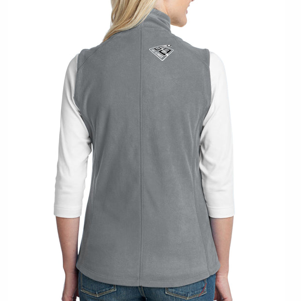 50th Anniversary of Ultimate: '50 Years' Left Chest Print Women's Fleece Vest - Pearl Grey