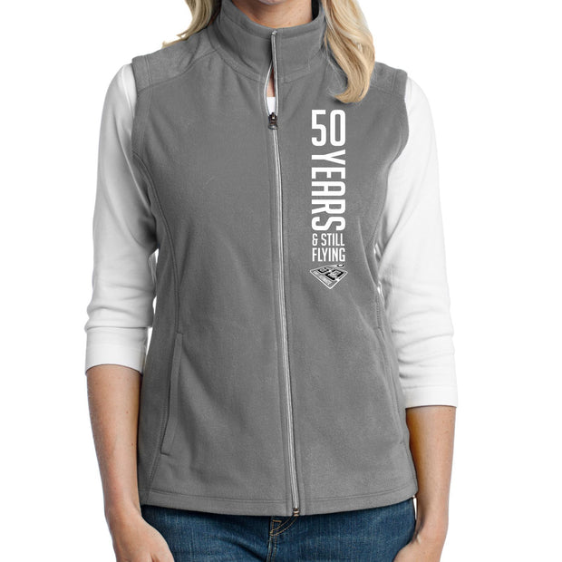 50th Anniversary of Ultimate: '50 Years' Women's Fleece Vest - Pearl Grey - by Port Authority