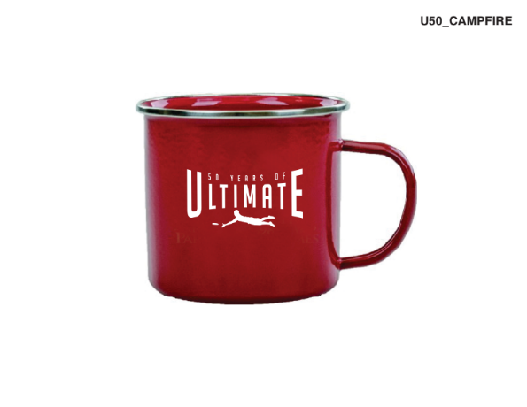 50th Anniversary of Ultimate: '50 Years' Stainless Steel 17 oz. Mug -Red