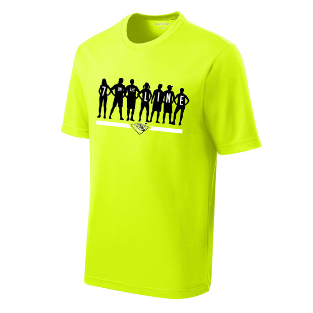 50th Anniversary of Ultimate: '7 on the Line' Men's SS Tech Tee - Hi Viz Yellow