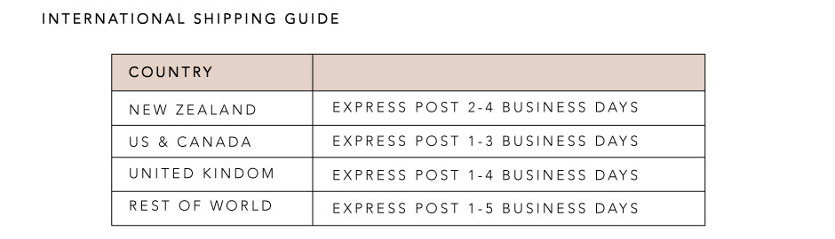 FREE EXPRESS Post On All Orders Over $75 / International