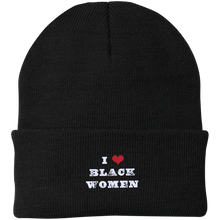 I Love Black Women Knit Cap