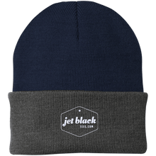 Jet Black Port Authority Knit Cap