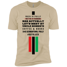 Meet Me at Uncle Bobbie's Coffee & Books in Philly t-shirt