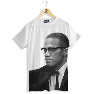 Malcolm X print all over t-shirt