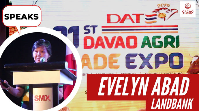 Evelyn Abad of Landbank speaks at the Davao Agri Trade Expo