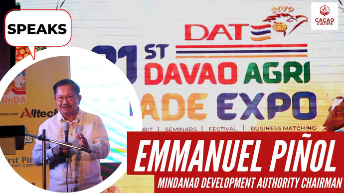 Manny Piñol speaks at the Davao Agri Trade Expo