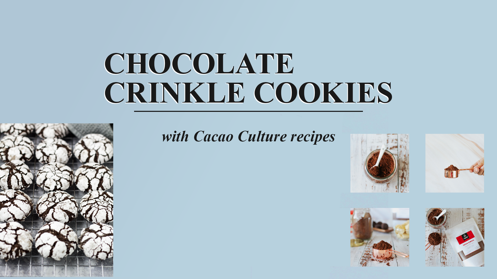 Chocolate Crinkle Cookies | Cacao Culture Recipes