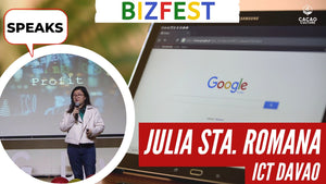Julia Sta. Romana of ICT Davao Speaks at Google Bizfest