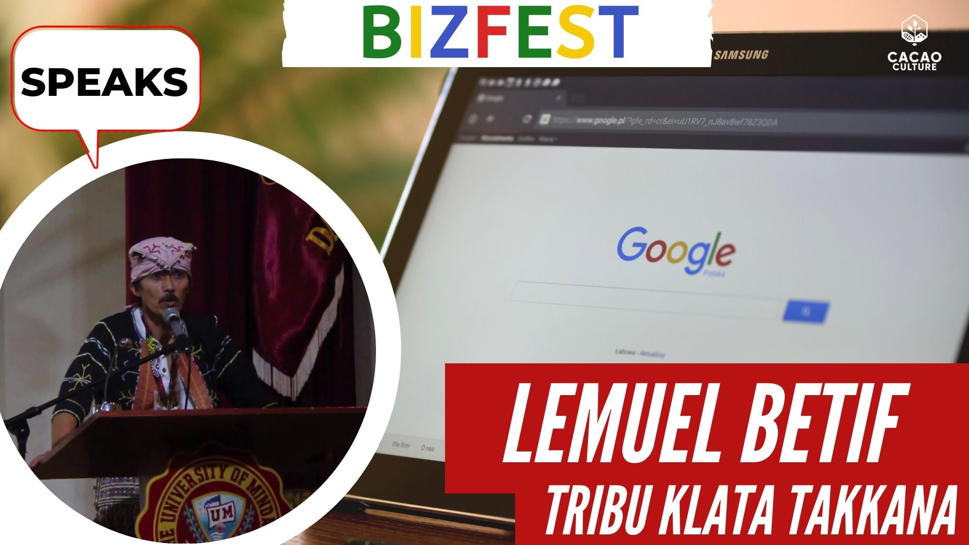 Lemuel Betif of Tribu Klata Speaks at Google Bizfest