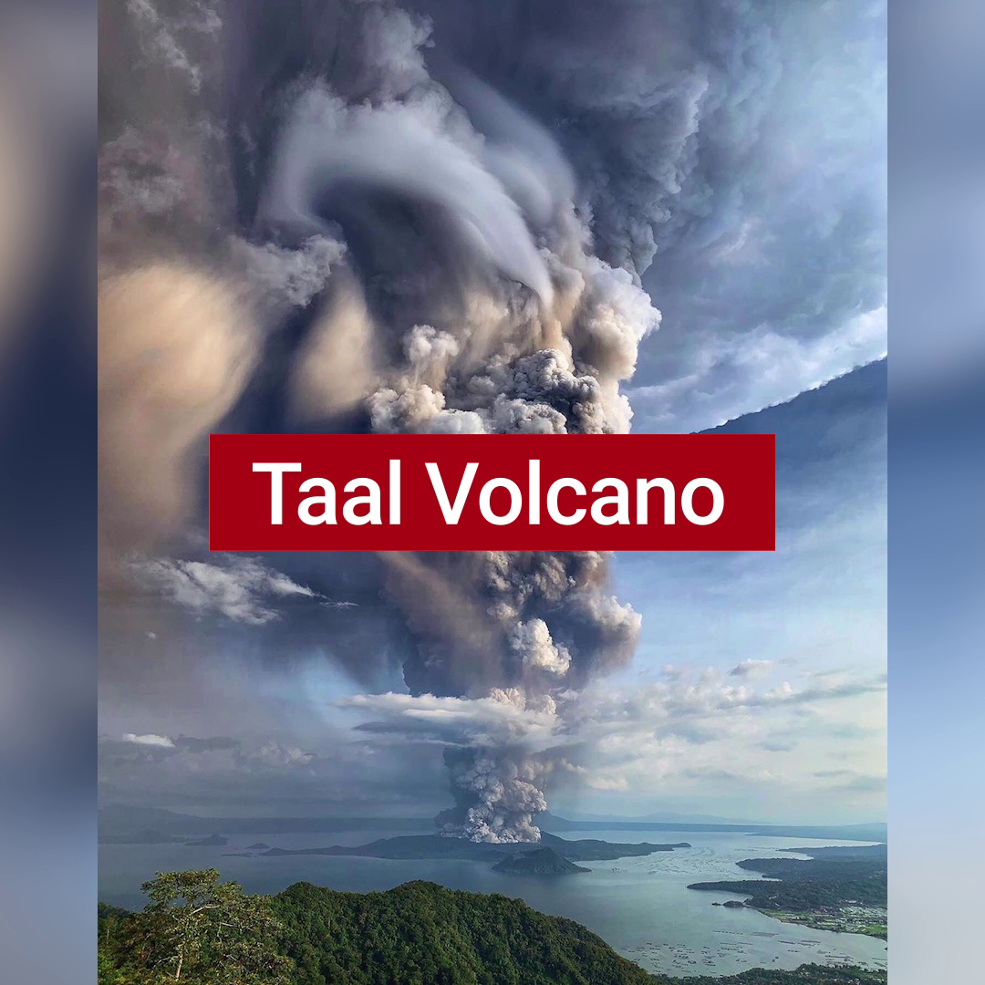 Taal Volcano in the Philippines Erupts