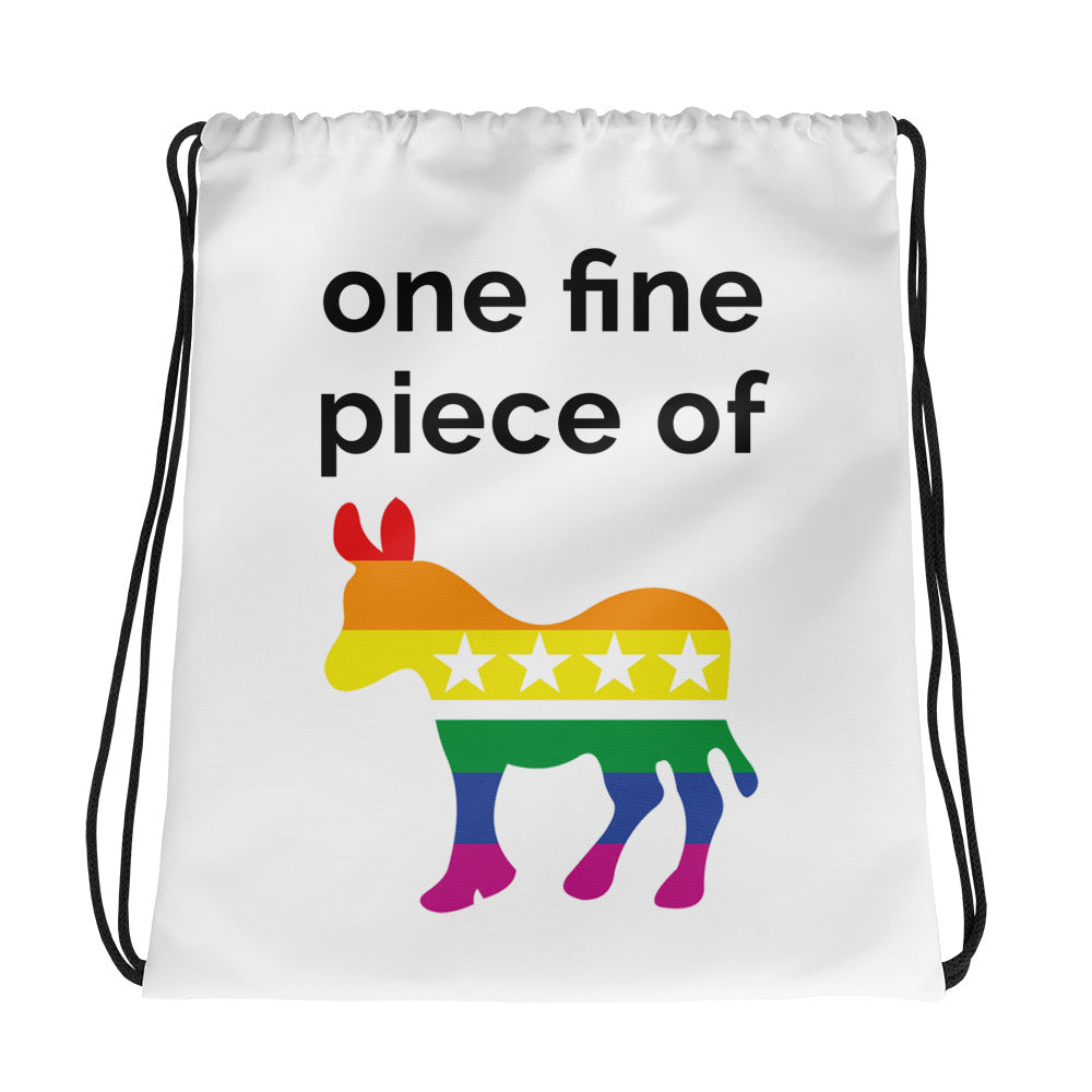 Rainbow One Fine Piece of Ass Drawstring Bag