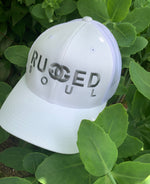 White Embroidered Logo Snapback
