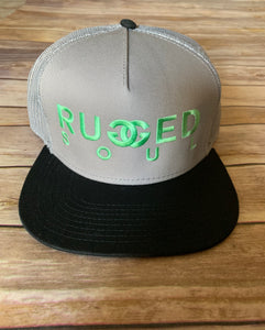 Mint Embroidered Logo Snapback