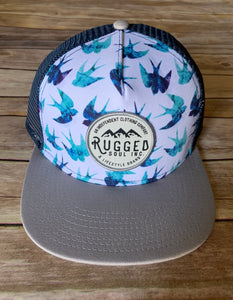 Blue Swallow Snapback