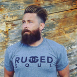 Heather Grey Rugged Soul Logo Tee - Unisex
