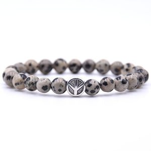 Spotted Peace Beaded Bracelet