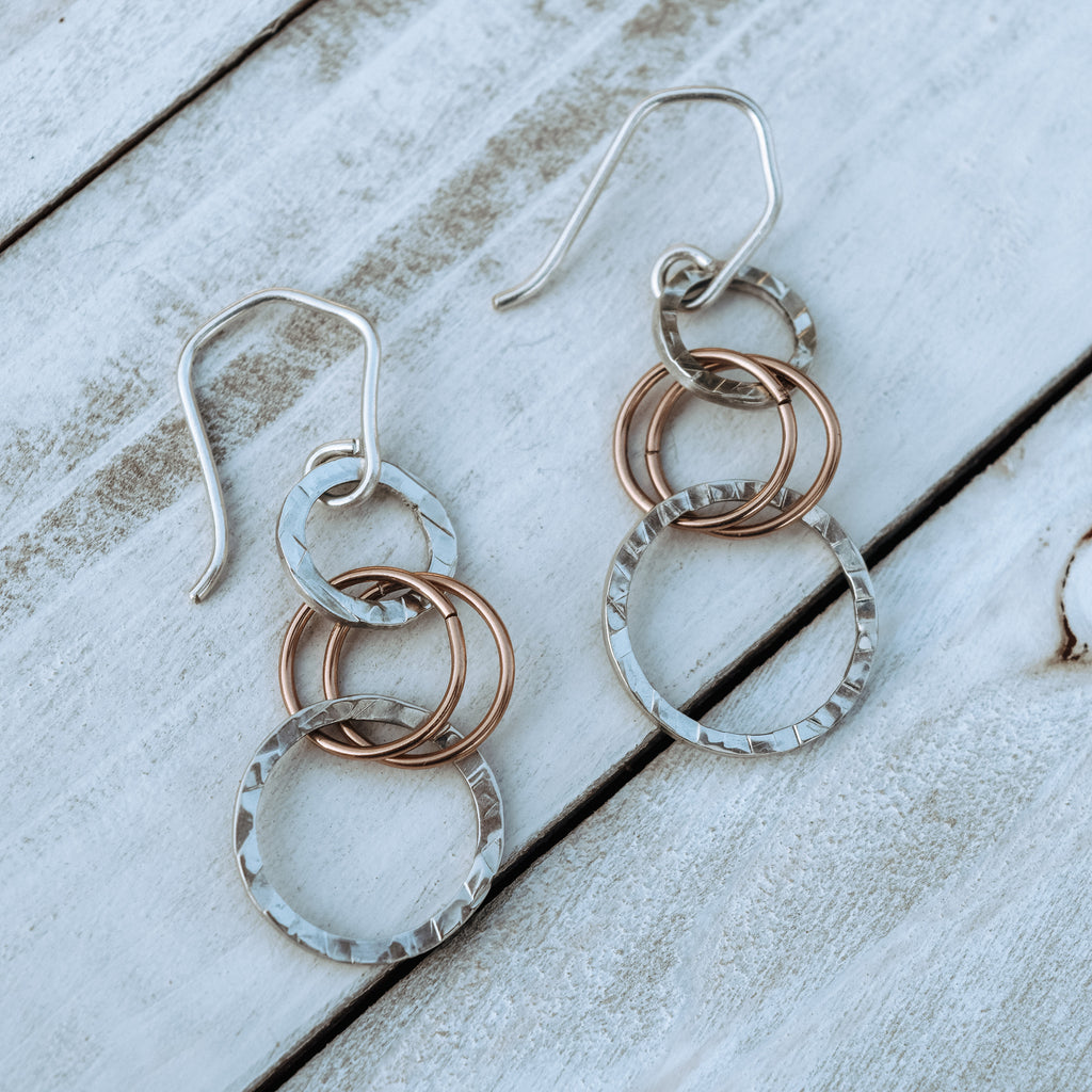 Two-tone Dangle Earrings