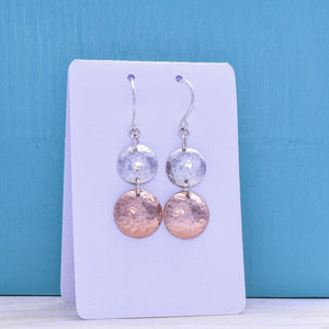 Two-tone Dome Earrings