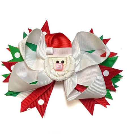 Santa Claus Christmas Hair Bow