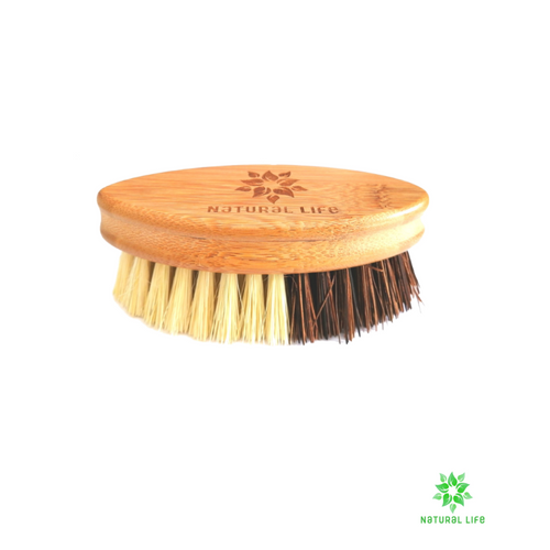 Bamboo Vegetable Brush with Natural Sisal and Palm Fibre Bristles natural cleaning brush