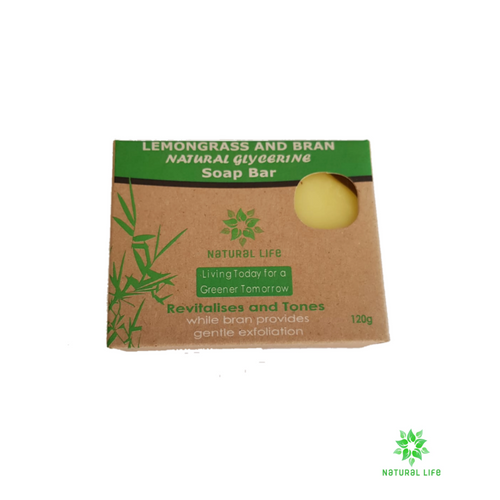 Natural Soap Bar - Lemongrass and Bran