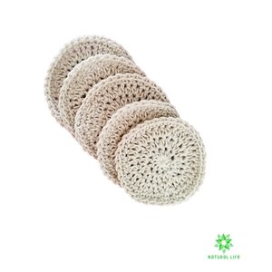 Organic Cotton Facial Rounds - 5 Pack