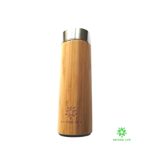 Stainless Steel Water Bottle - Bamboo
