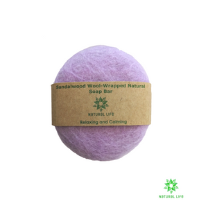 Sandalwood Wool-wrapped Pure natural Soap Bar