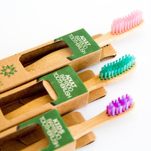 Kids Bamboo Toothbrush Earth
