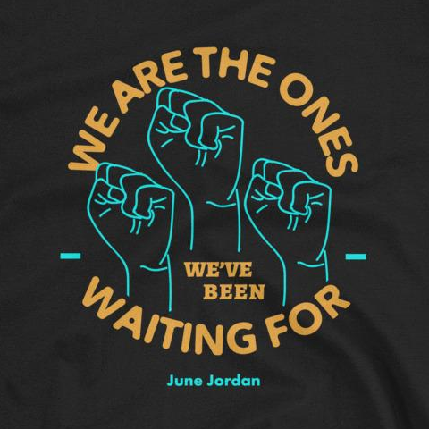 We Are The Ones Tee - Orange/Blue