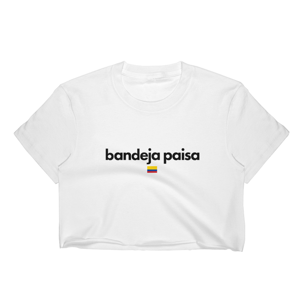 Bandeja Paisa Crop Top Shirt, Colombian Pride Shirt