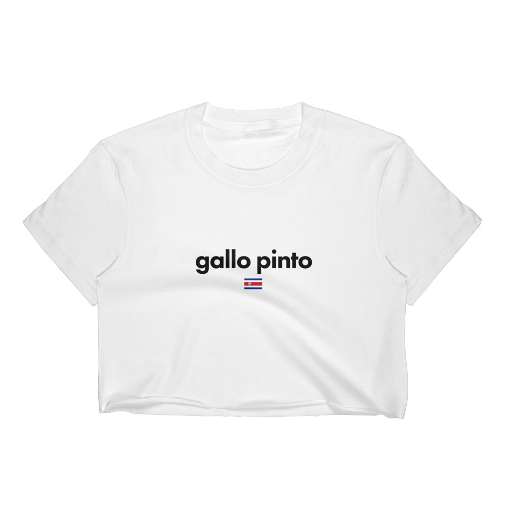 Gallo Pinto Crop Top Shirt, Costa Rican Pride T-shirt
