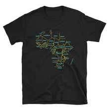 Africa Map Minimalist T-shirt, a shirt featuring Africa and the names of the African countries.
