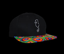 Zoanthid Six Panel Snapback Hat (Black Crown)