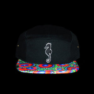 Zoanthid Five Panel Hat (Black Crown)