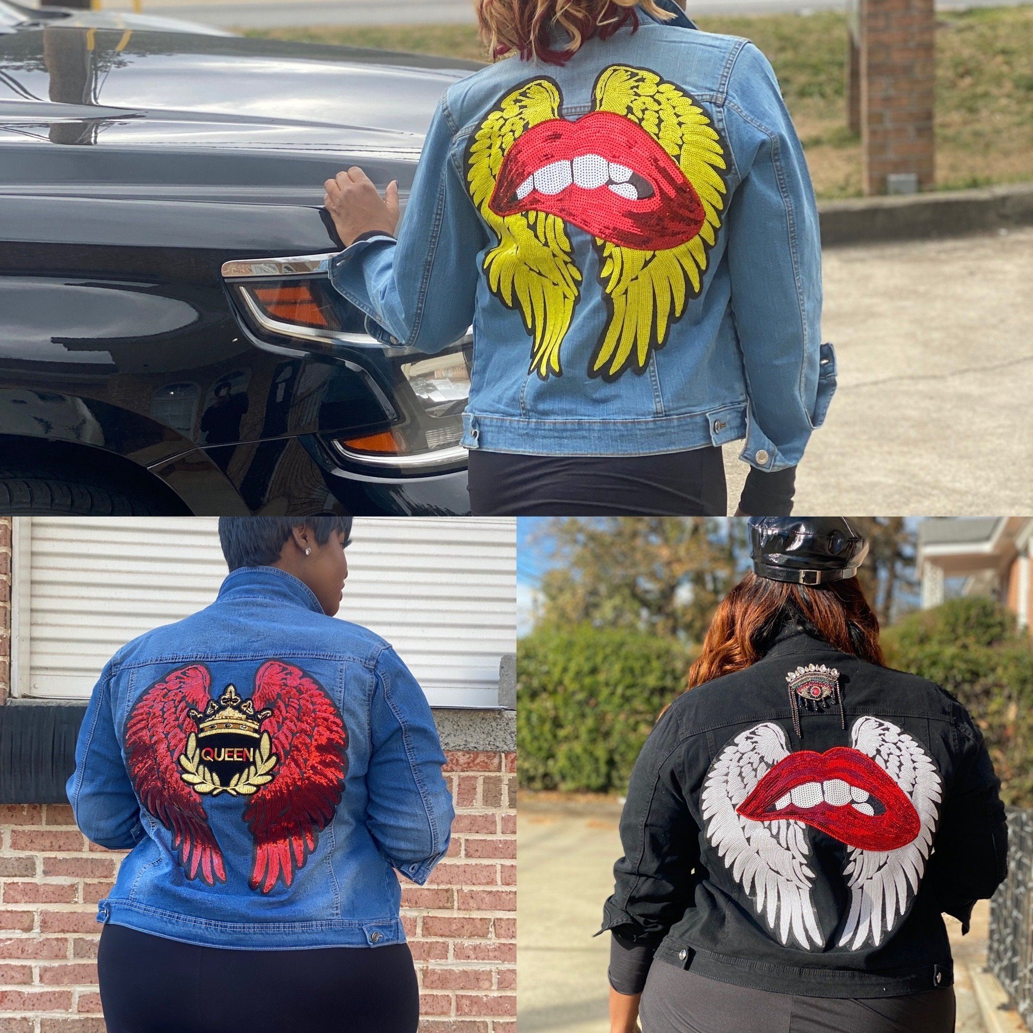 I'm No Angel Denim Jacket (4 different styles)-jacket-Shun Melson