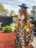 Plaid & Pattern Maxi Skirt ( multiple colors)-skirt-Shun Melson