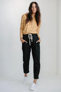Luxe Linen Pants BLACK