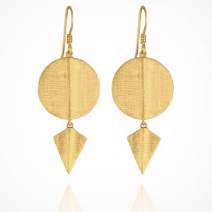 Aegean Disc Earrings GOLD