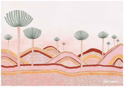 Dusty Pink Dunes Fine Art Print