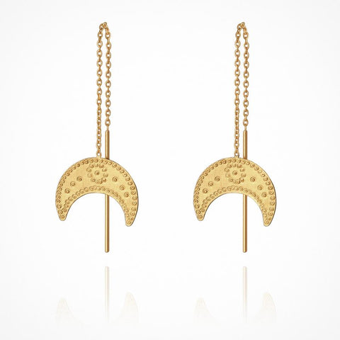 Hanging Moon Earrings GOLD
