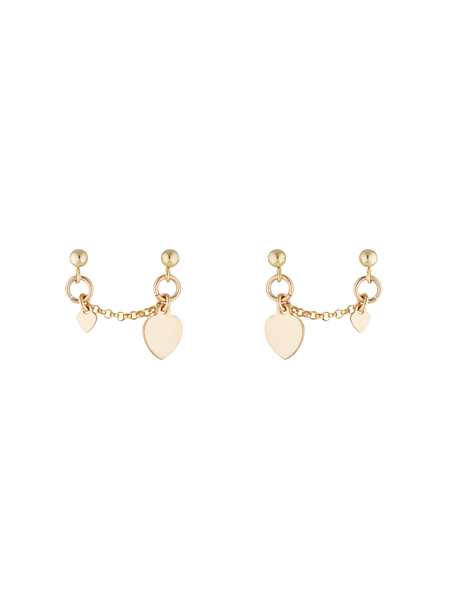 Kat Double Earrings 14K GOLD FILLED