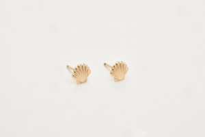 Tiny Shell Studs GOLD FILLED