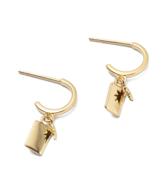 Guiding Star Hoops 18K GOLD PLATED