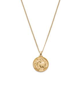 Aquarius Zodiac Necklace 18K GOLD VERMEIL