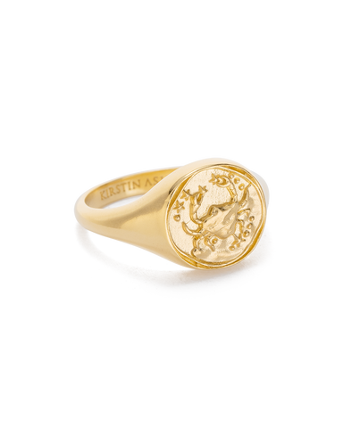 Cancer Zodiac Ring 18K GOLD VERMEIL or STERLING SILVER