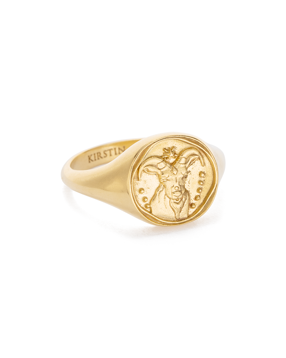 Capricorn Zodiac Ring 18K GOLD VERMEIL or STERLING SILVER