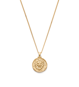 Leo Zodiac Necklace 18K GOLD VERMEIL