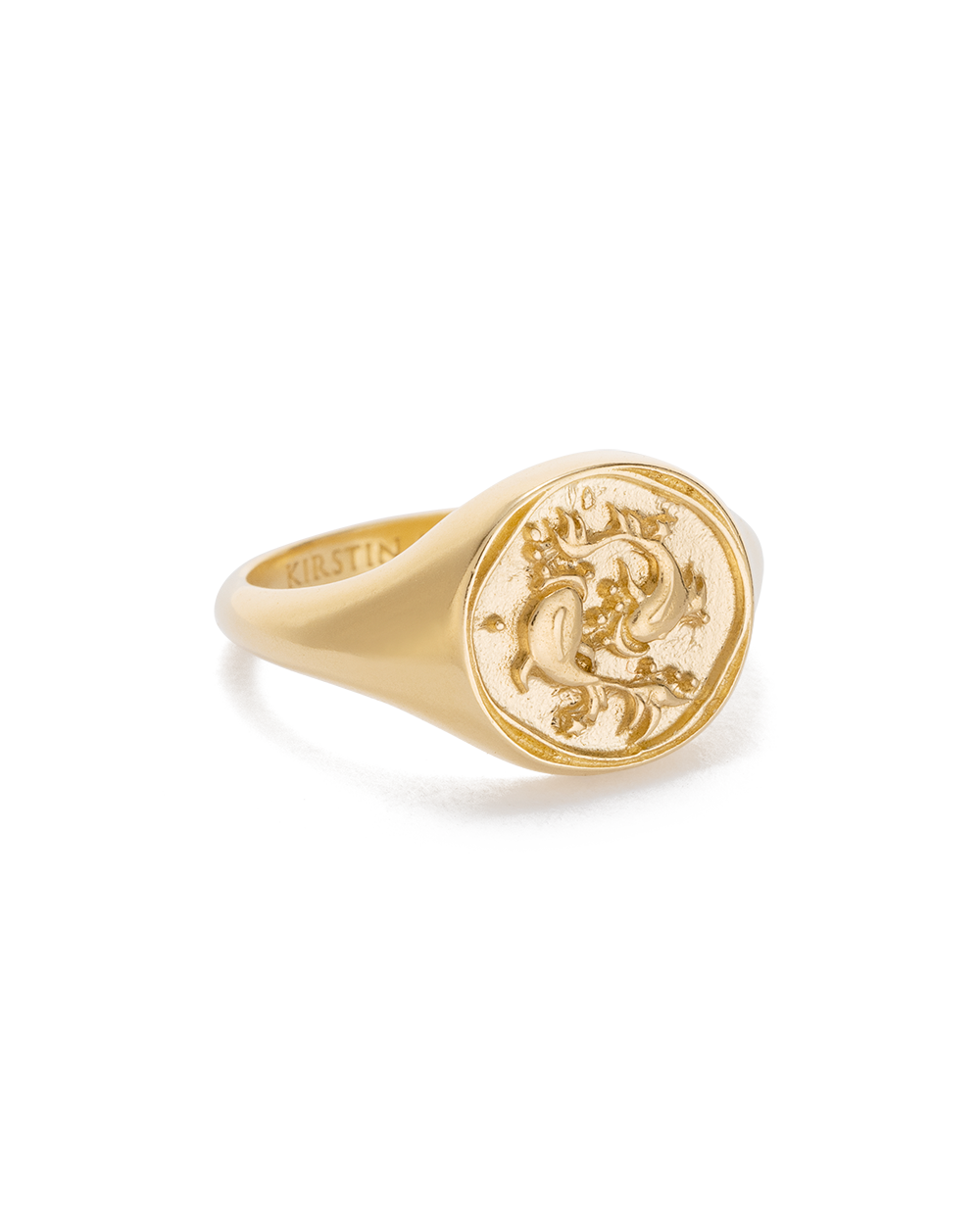 Pisces Zodiac Ring 18K GOLD VERMEIL or STERLING SILVER